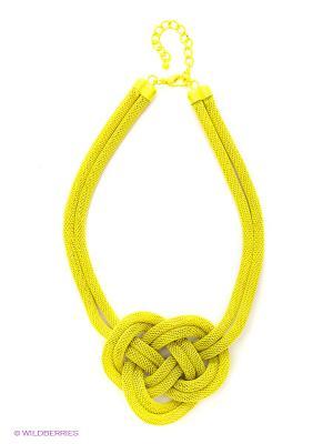 Колье Metal (желтое) Kawaii Factory. Цвет: салатовый