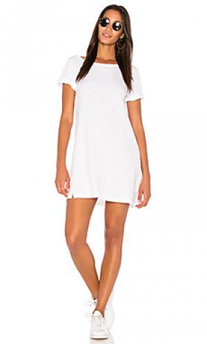 Платье с закатанными манжетами Wilt. Цвет: белый