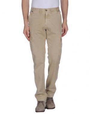 Повседневные брюки BOWERY. Цвет: бежевый