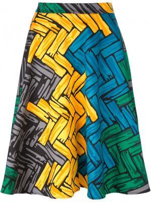 Юбка А-образного силуэта Ultràchic. Цвет: многоцветный