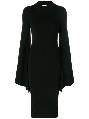 Платье Ami Solace. Цвет: чёрный
