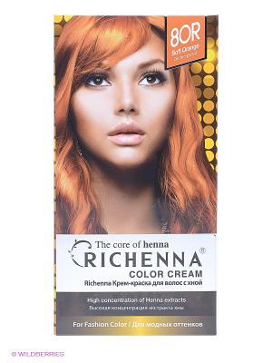 Крем-краска для волос с хной № 8OR (Soft Orange) Richenna. Цвет: оранжевый, желтый