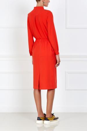 Однотонная юбка VIKTORIA IRBAIEVA. Цвет: алый
