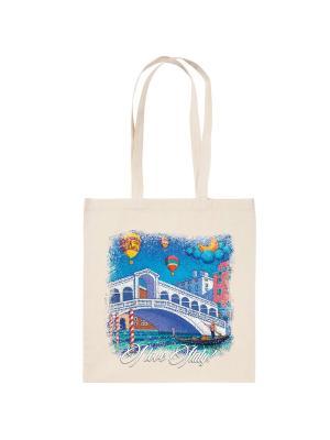 Холщовая эко-сумка Венеция Дерево Счастья. Цвет: бежевый