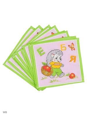 Набор платков носовых детских Римейн. Цвет: зеленый, фиолетовый