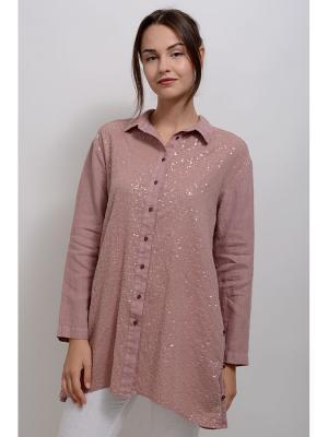 Блуза Отто LINO RUSSO. Цвет: розовый