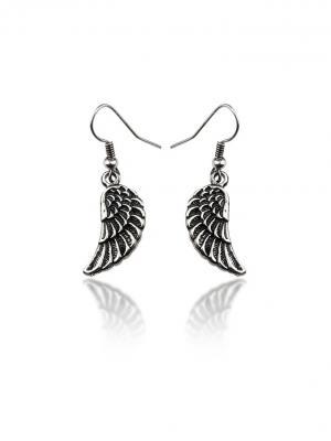Серьги Маленькие крылья Chocopony. Цвет: серебристый