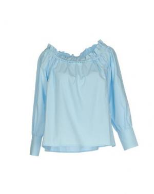 Блузка NINEMINUTES. Цвет: небесно-голубой