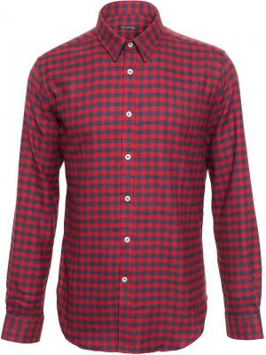 Рубашка в клетку Browns. Цвет: красный