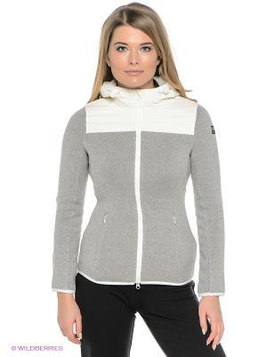 Куртка Super.Natural. Цвет: серый меланж, молочный