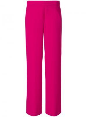 Прямые брюки P.A.R.O.S.H.. Цвет: розовый и фиолетовый