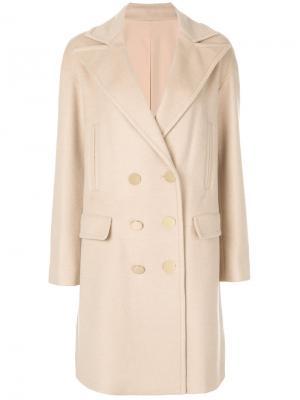 Двубортное пальто Giambattista Valli. Цвет: телесный