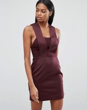 AQ Облегающее платье мини AQ/AQ. Цвет: фиолетовый
