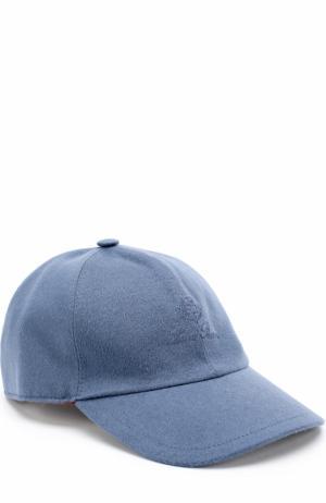 Кашемировая бейсболка Loro Piana. Цвет: голубой