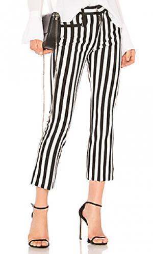 Укороченные брюки girls Calvin Rucker. Цвет: black & white