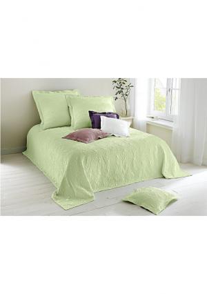 Покрывало Heine Home. Цвет: белый, нежно-зеленый, розовато-сиреневый