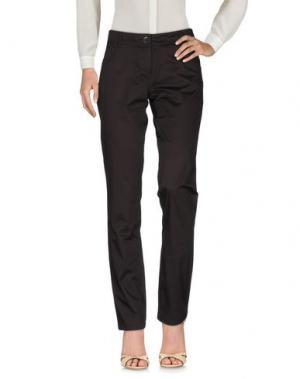 Повседневные брюки CRISTINAEFFE. Цвет: темно-коричневый