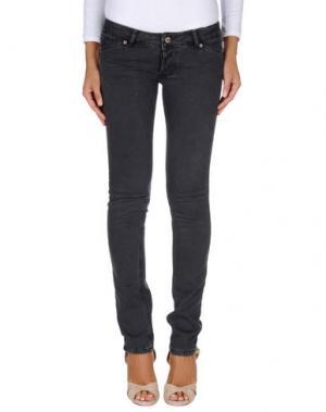 Джинсовые брюки SOUVENIR. Цвет: стальной серый