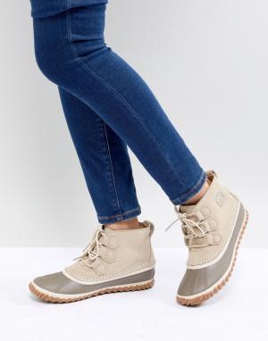 Sorel Бежевые непромокаемые ботинки Out N About. Цвет: бежевый
