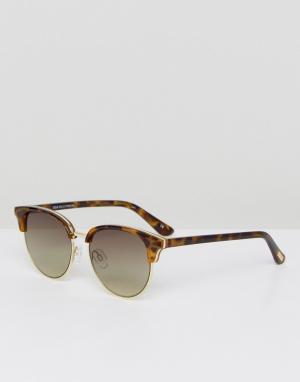 Le Specs Солнцезащитные очки в стиле ретро черепаховой оправе Deja V. Цвет: коричневый