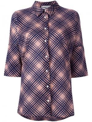 Рубашка в клетку Essentiel Antwerp. Цвет: розовый и фиолетовый