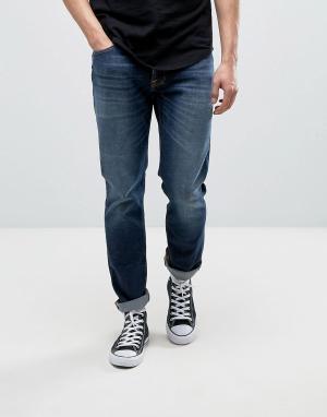 Nudie Jeans Темные выбеленные джинсы Co Dude Dan. Цвет: темно-синий