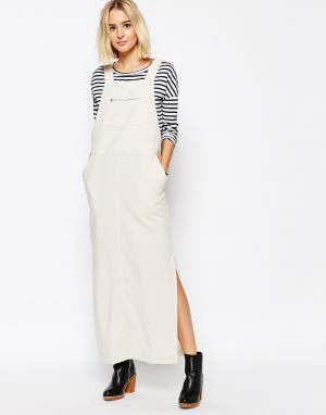 Paisie Длинное платье-комбинезон. Цвет: бежевый