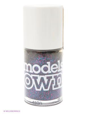Лак для ногтей, Glitter Silver Fox Models Own. Цвет: голубой