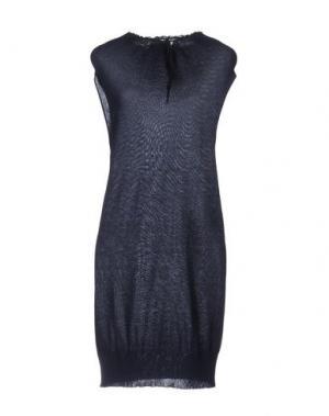 Короткое платье EMISPHERE. Цвет: темно-синий