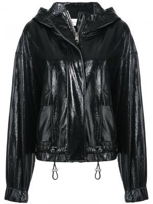 Patent hooded jacket Wanda Nylon. Цвет: чёрный
