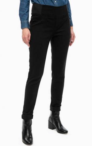 Зауженные брюки с эластичными вставками LERROS. Цвет: черный