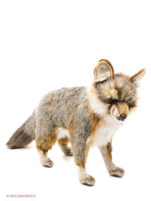 Серая лисица стоящая, 40 см Hansa. Цвет: серо-коричневый