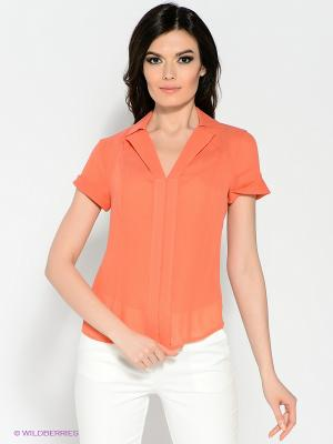 Блуза KEY FASHION. Цвет: оранжевый