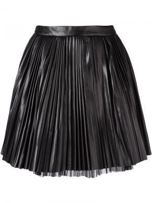 Плиссированная мини-юбка Cristiano Burani. Цвет: чёрный
