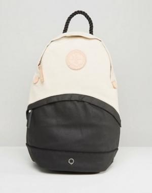 Stighlorgan Парусиновый рюкзак с кожаной отделкой Oisin. Цвет: черный