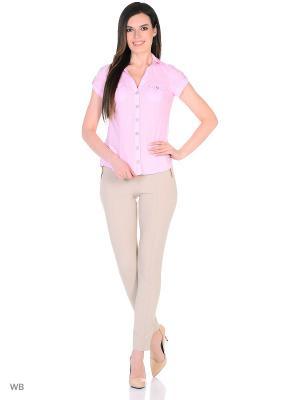 Рубашка женская lawiggi. Цвет: бледно-розовый