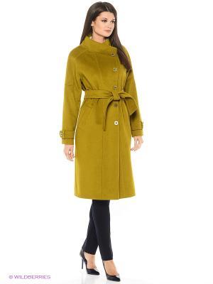 Пальто Socrat. Цвет: оливковый