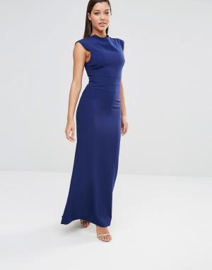 AQ Платье макси AQ/AQ Vapid. Цвет: темно-синий