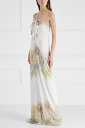 Платье Gilmar. Цвет: бежевый, разноцветный