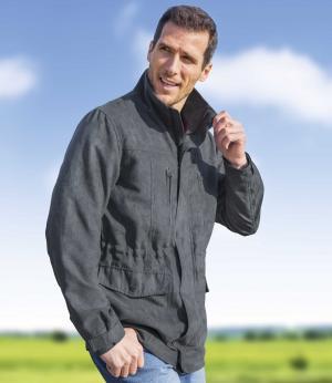 Замшевая Куртка AFM. Цвет: серыи