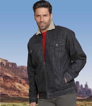 Куртка из Денима с Подкладкой Шерпы AFM. Цвет: черныи