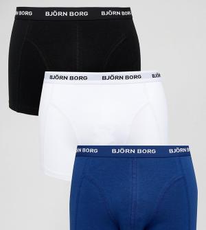 Bjorn Borg Набор из 3 пар боксеров-брифов. Цвет: темно-синий