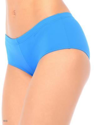 Плавки для женщин KICKERS. Цвет: голубой