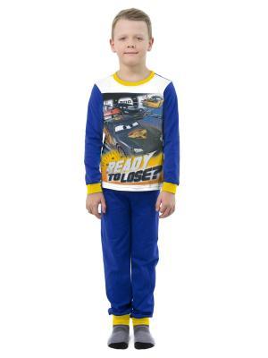 Пижама Disney. Цвет: синий, белый