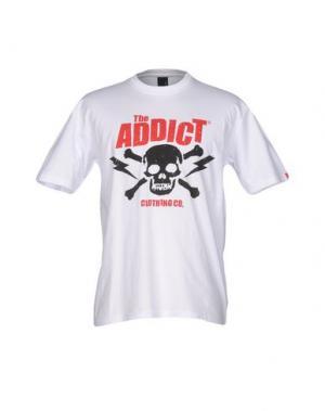 Футболка ADDICT. Цвет: белый