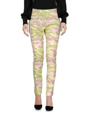 Повседневные брюки CARVEN. Цвет: кислотно-зеленый