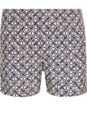 Плавки-шорты с принтом La Perla. Цвет: бежевый