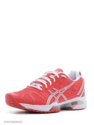 Теннисные кроссовки GEL-SOLUTION SPEED 2 ASICS. Цвет: красный, белый, серебристый