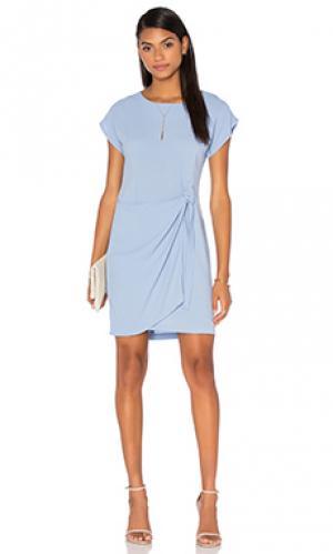 Платье с запахом emily Otis & Maclain. Цвет: синий