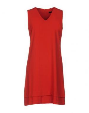 Короткое платье LA FEE MARABOUTEE. Цвет: кирпично-красный